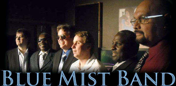 Home Page Banner Showing Blue Mist Band's Members
